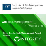 Integrity is shortlisted for the CIR Risk Management Awards 2020